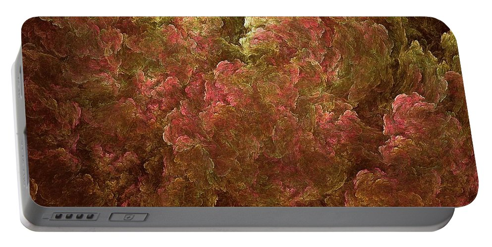 Hydrangea Portable Battery Charger featuring the digital art Hydrangea Fractal Blossoms by Doug Morgan