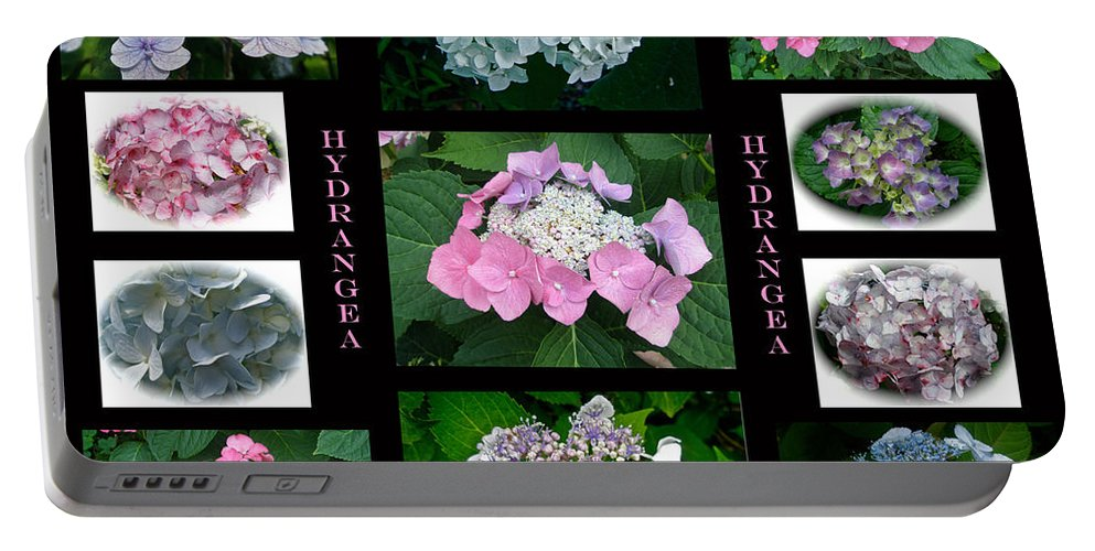 Hydrangea Portable Battery Charger featuring the photograph Hydrangeas On Parade by Mother Nature