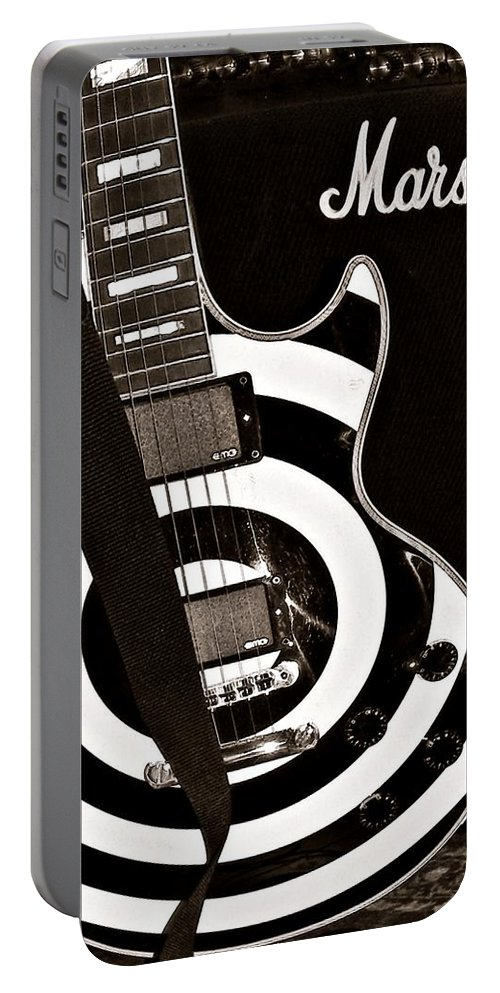 Guitar Portable Battery Charger featuring the photograph Hypnotic by Chris Berry