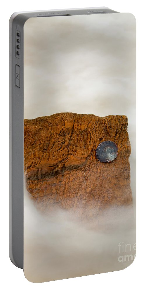 Rocks Portable Battery Charger featuring the photograph I Am A Rock by Mike Dawson
