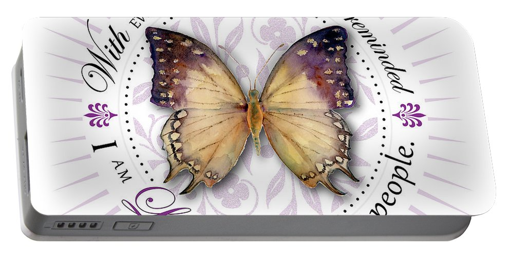 Great Portable Battery Charger featuring the digital art I Am Loved By Fabulous People by Amy Kirkpatrick