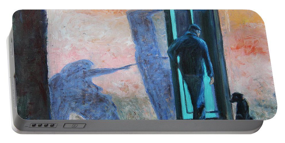 Friends Portable Battery Charger featuring the painting I Am Not I by Xueling Zou