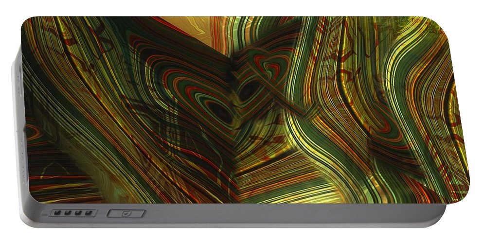 Abstract Portable Battery Charger featuring the painting I Have Set Aside A Block Of Time by RC DeWinter