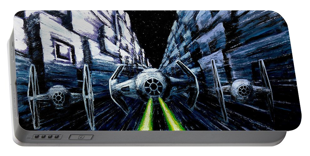 Star Wars Portable Battery Charger featuring the painting I Have You Now by Marlon Huynh