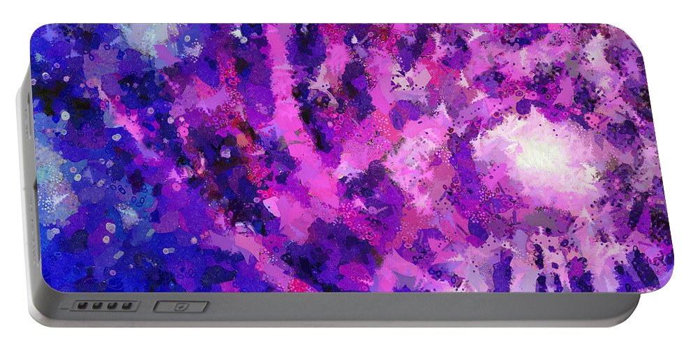 Portable Battery Charger featuring the digital art I Know You 1 by Angelina Tamez