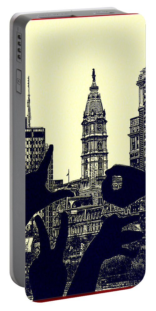 I Love Philly Portable Battery Charger featuring the photograph I Love Philly by Bill Cannon