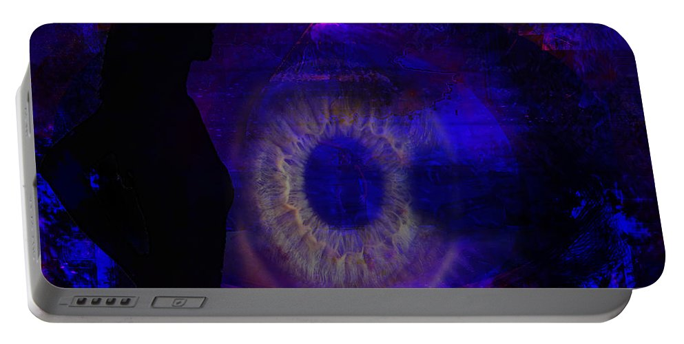 Eyes Portable Battery Charger featuring the digital art I See by Joseph Mosley