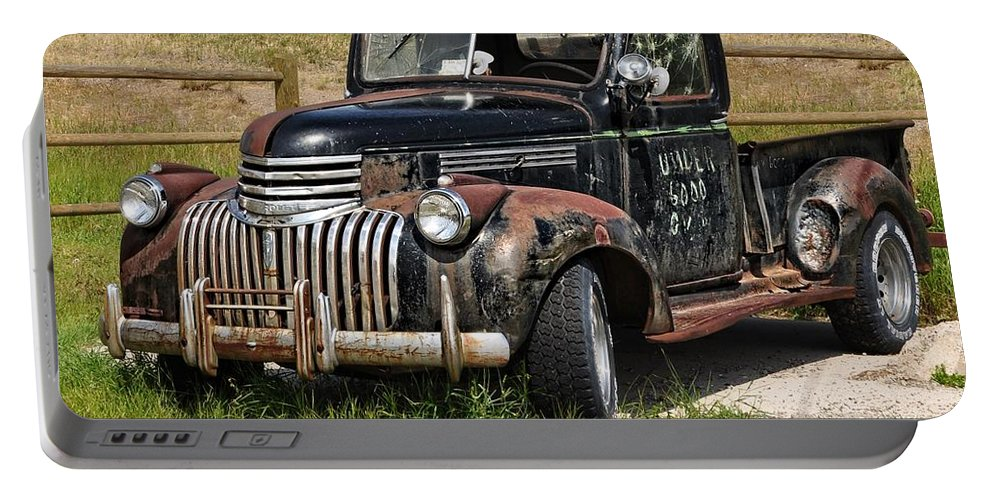 Anaconda Portable Battery Charger featuring the photograph I Still Have My Chevrolet by Image Takers Photography LLC - Laura Morgan