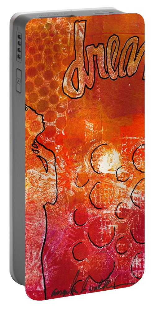 Printing Portable Battery Charger featuring the painting I Too Have A Dream by Angela L Walker