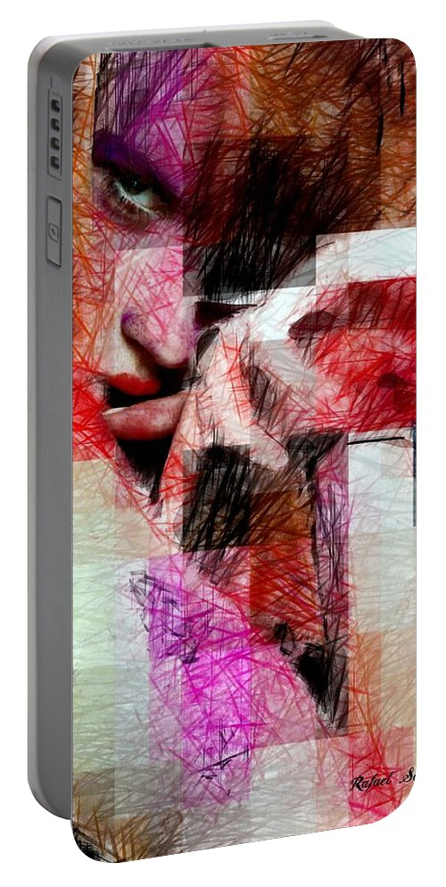 Art Portable Battery Charger featuring the digital art I Will Be Right Here Waiting For You. by Rafael Salazar