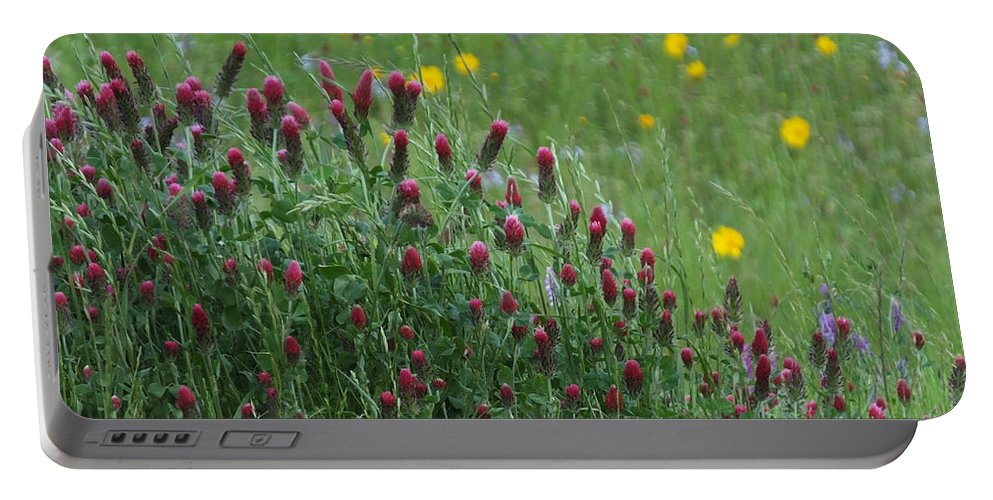 Spring Portable Battery Charger featuring the photograph I55 Eye Candy by Lizi Beard-Ward