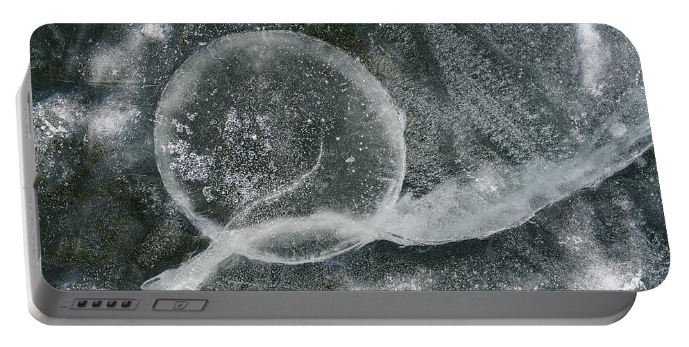 Ice Portable Battery Charger featuring the photograph Ice Fishing Hole by Steven Ralser