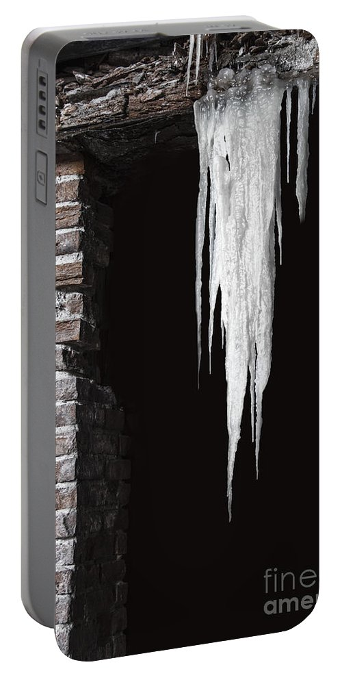 Door Portable Battery Charger featuring the photograph Ice by Margie Hurwich