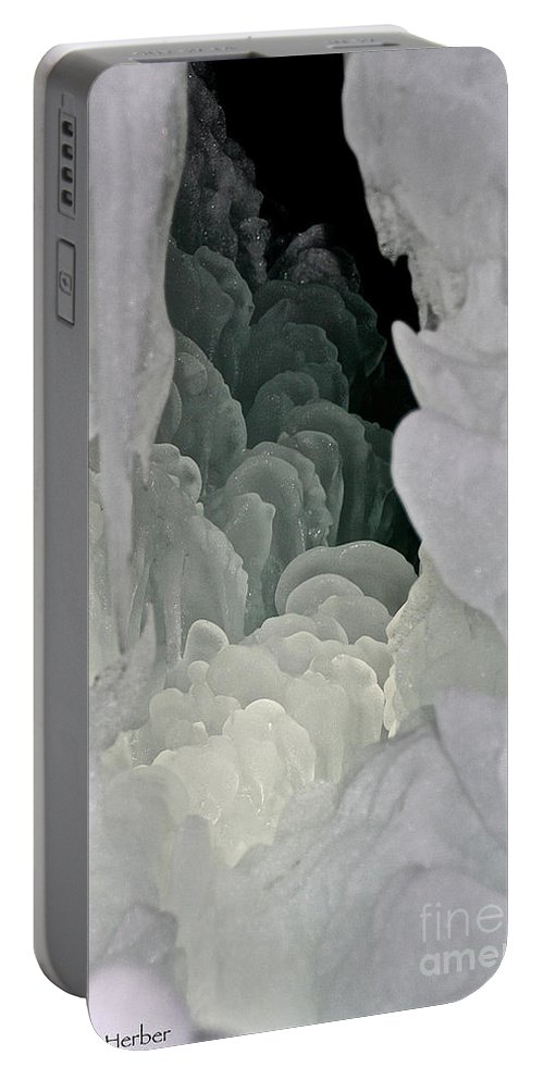 Ice Portable Battery Charger featuring the photograph Ice Scales by Susan Herber