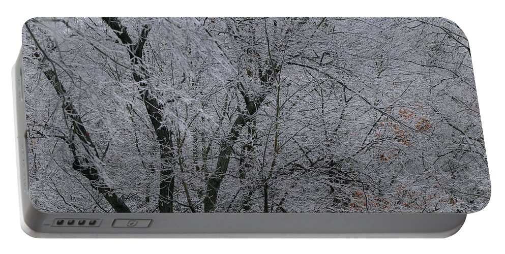 Landscape Portable Battery Charger featuring the photograph Ice Storm by Scott Angus
