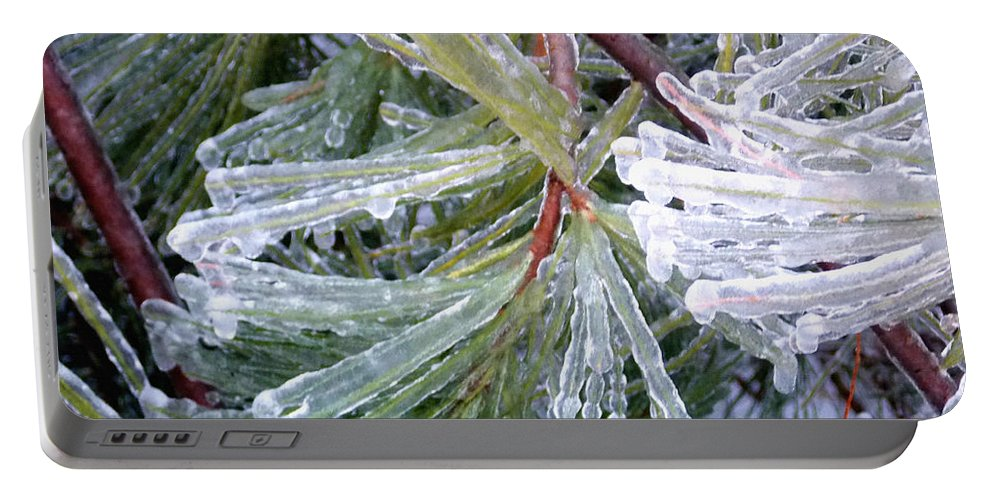 Winter Portable Battery Charger featuring the photograph Ice Storm by Shana Rowe Jackson