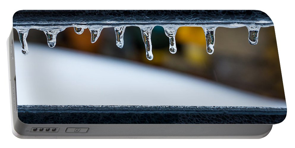 Ice Portable Battery Charger featuring the photograph Ice Teeth On Colors by Photographic Arts And Design Studio