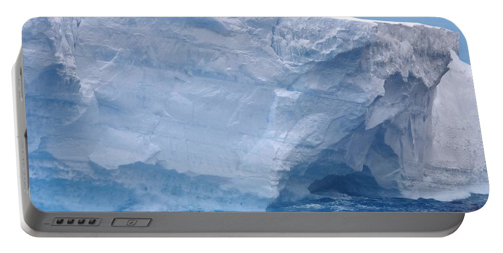 Ice Portable Battery Charger featuring the photograph Iceberg With Cape Petrel by Ginny Barklow
