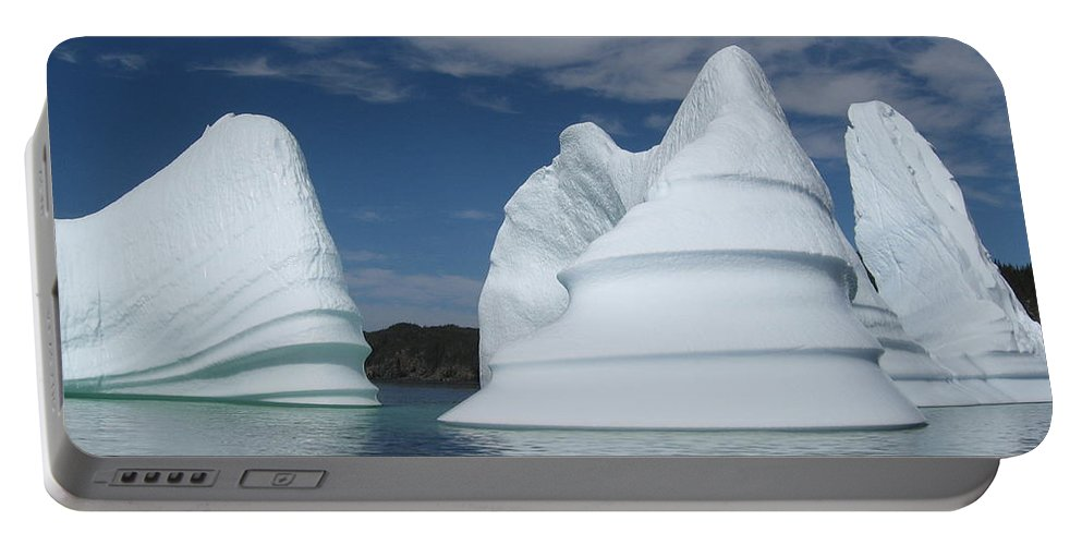 Iceberg Newfoundland Portable Battery Charger featuring the photograph Icebergs by Seon-Jeong Kim