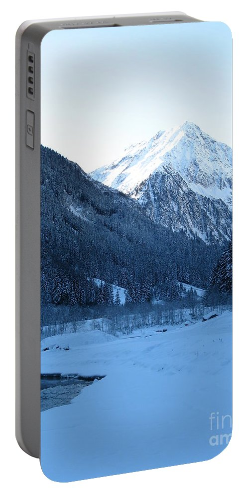 Snow Portable Battery Charger featuring the photograph Iceblue Snow by Christiane Schulze Art And Photography