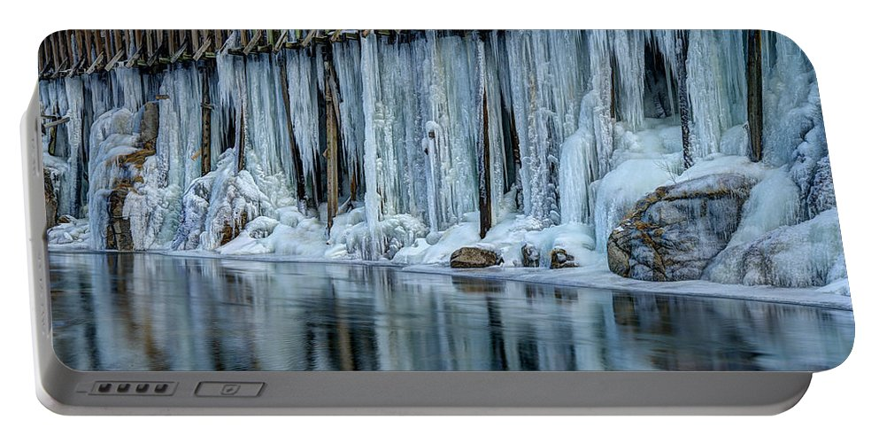 Icicles Portable Battery Charger featuring the photograph Icicles 2 by Dianne Phelps