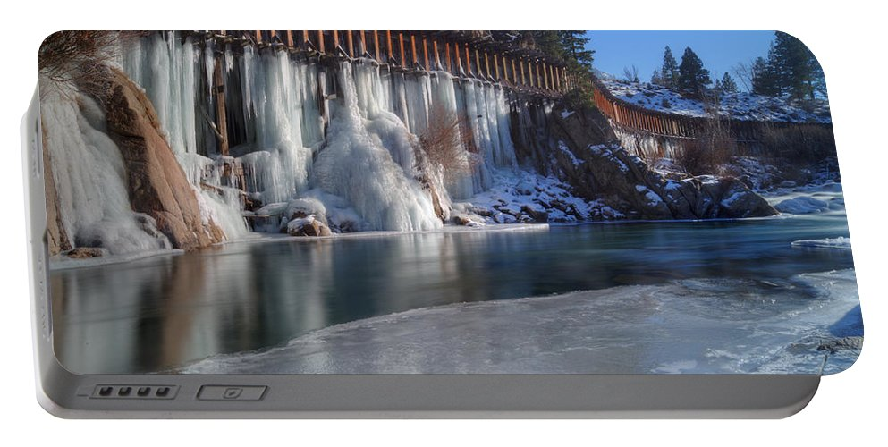 Icicles Portable Battery Charger featuring the photograph Icicles by Dianne Phelps