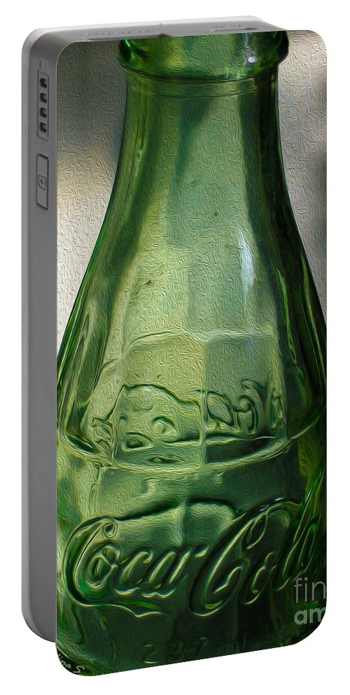 Coke Portable Battery Charger featuring the photograph Iconic Glassware by Nina Silver