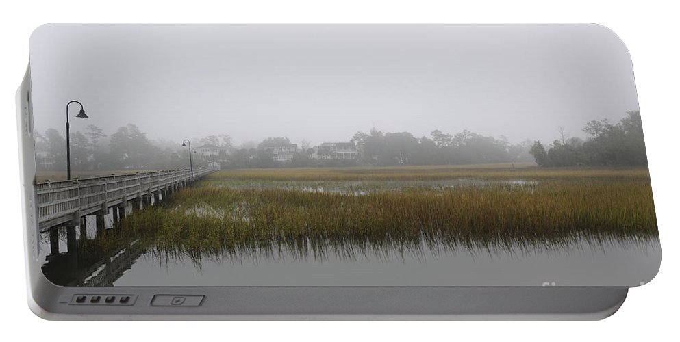 Fog Portable Battery Charger featuring the photograph Icy Foggy Day by Dale Powell
