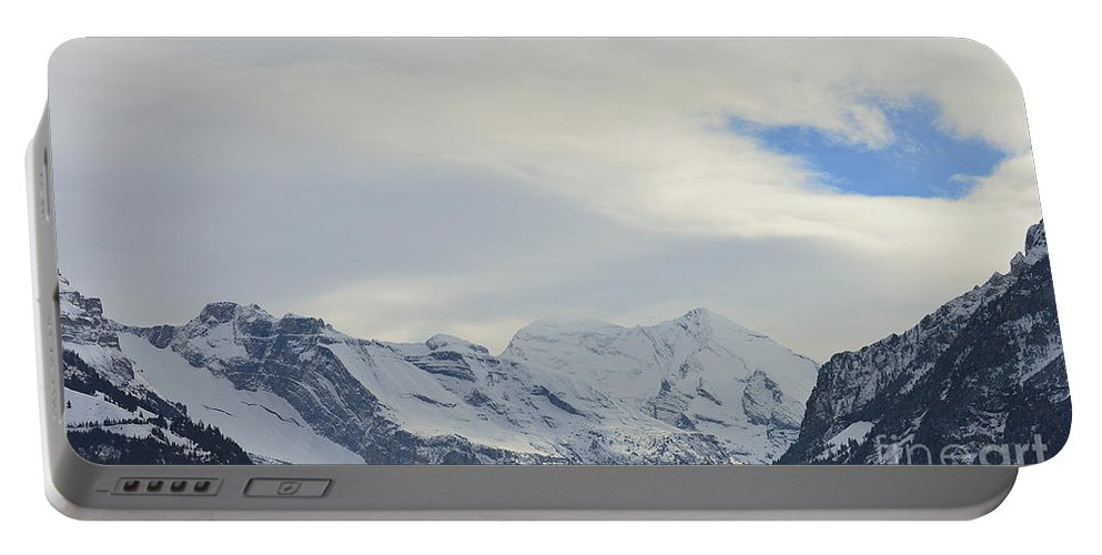 Alps Portable Battery Charger featuring the photograph Icy View by Felicia Tica