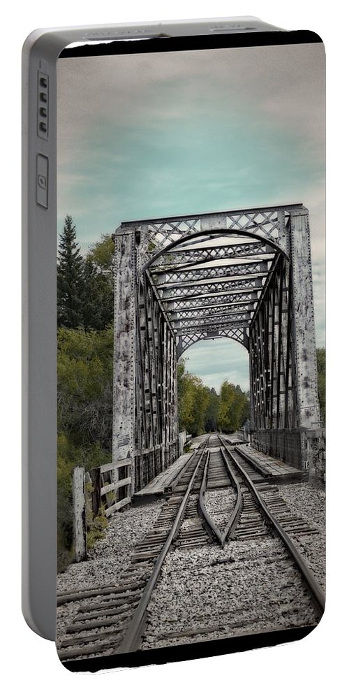 Idaho Falls Portable Battery Charger featuring the photograph Idaho Falls Gateway by Image Takers Photography LLC