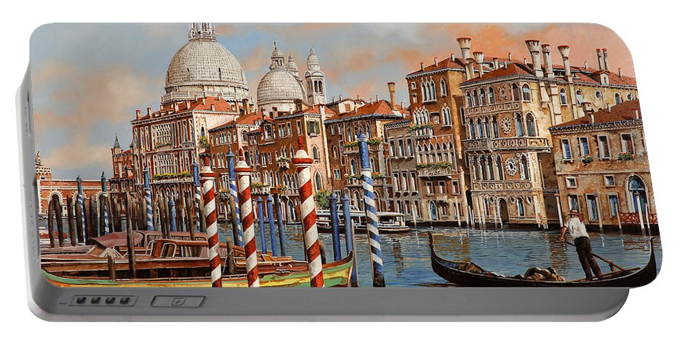 Venice Portable Battery Charger featuring the painting Il Canal Grande by Guido Borelli