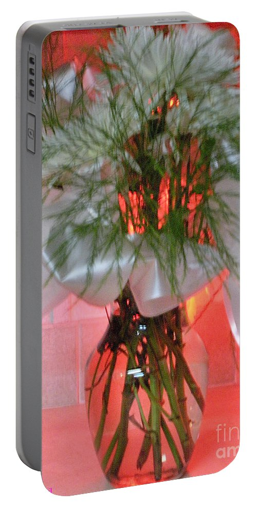 Flowers Portable Battery Charger featuring the photograph Illuminated Love by Joseph Baril