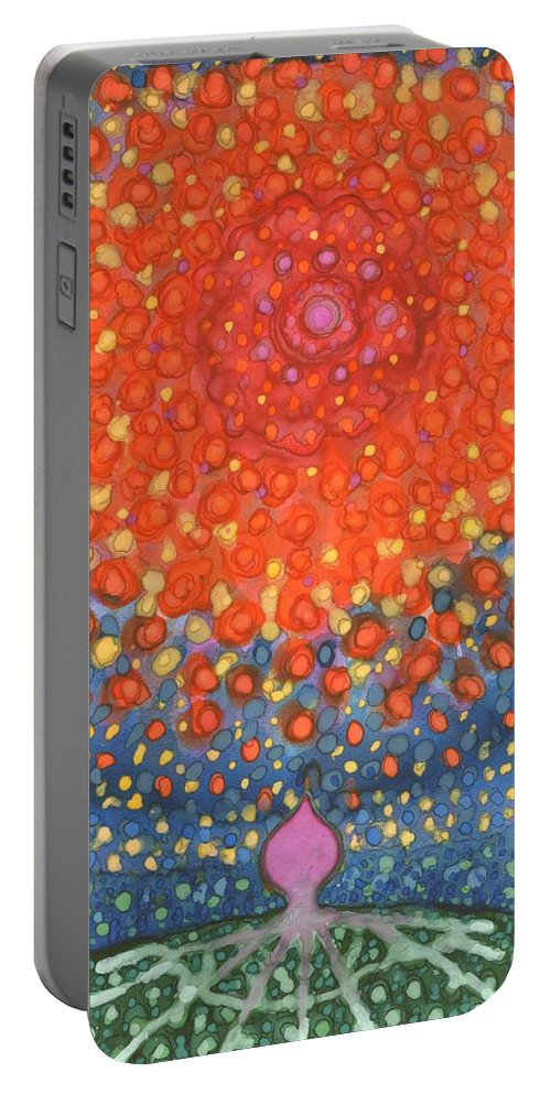 Colour Portable Battery Charger featuring the painting I'm Leaving by Wojtek Kowalski
