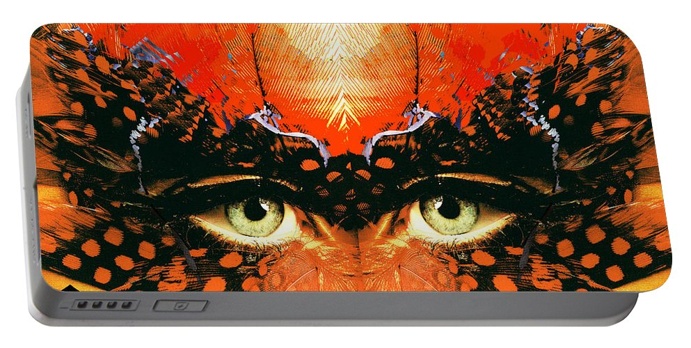 I'm Looking Through You Portable Battery Charger featuring the digital art I'm Looking Through You by Seth Weaver
