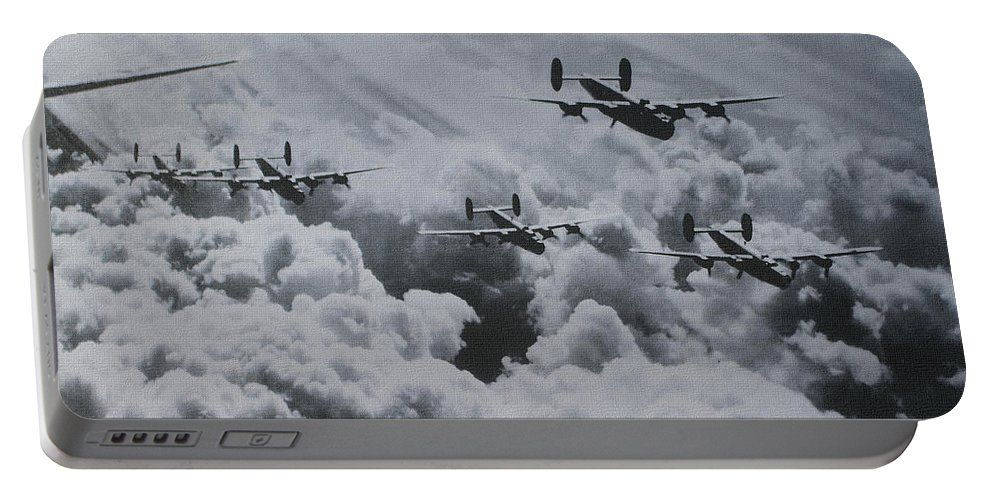 Imagine The Brave Men In These Bombers On A World War Ii Mission Portable Battery Charger featuring the photograph Imagine The Brave Men In These Bombers On A World War II Mission by Tom Janca