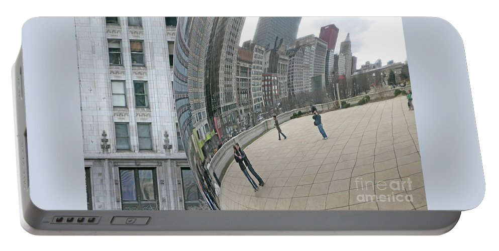 Chicago Portable Battery Charger featuring the photograph Imaging Chicago by Ann Horn