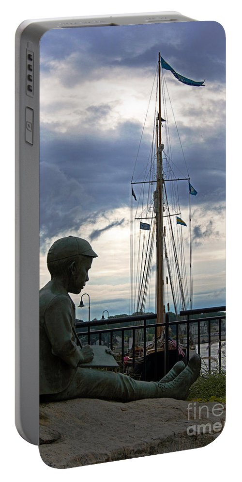 Statute Portable Battery Charger featuring the photograph Immortalized by Joe Geraci