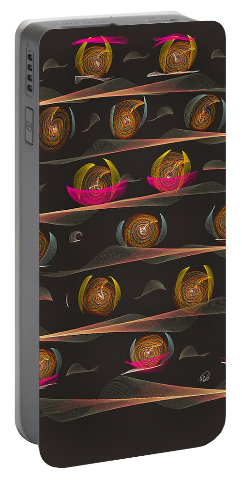Flowpaper Portable Battery Charger featuring the painting Impatience by Angela Stanton
