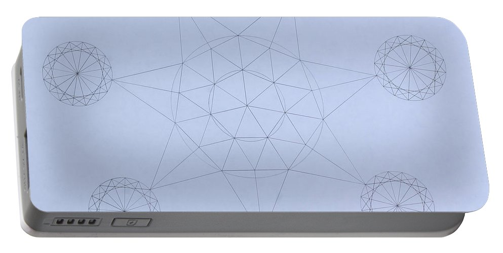 Jason Padgett Portable Battery Charger featuring the drawing Impossible Parallels by Jason Padgett