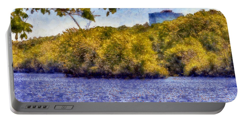 Chattahoochee Portable Battery Charger featuring the digital art Impressionist Chattahoochee by Daniel Eskridge