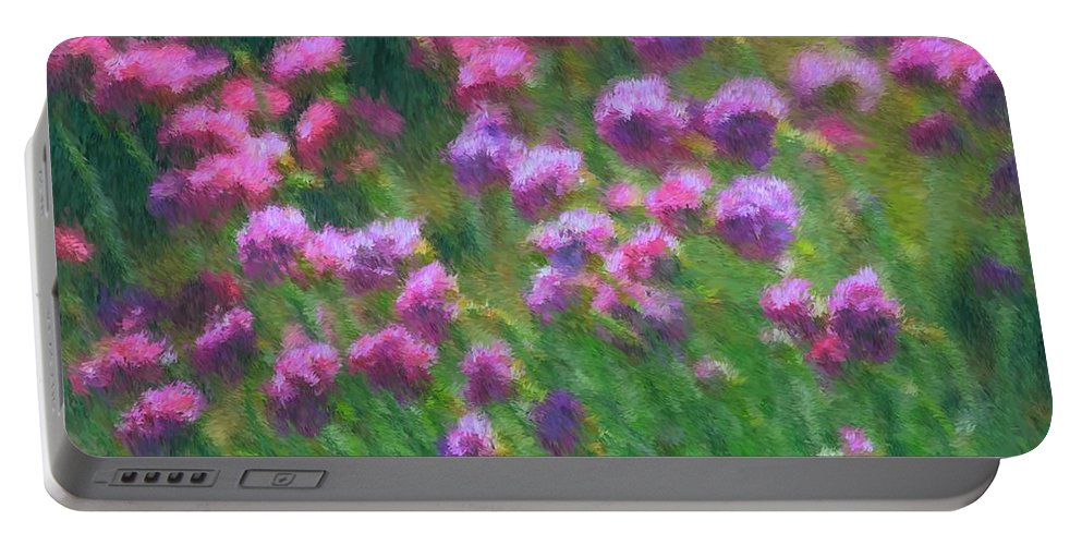 Purple Portable Battery Charger featuring the photograph Impressions Of Purple by Karol Livote