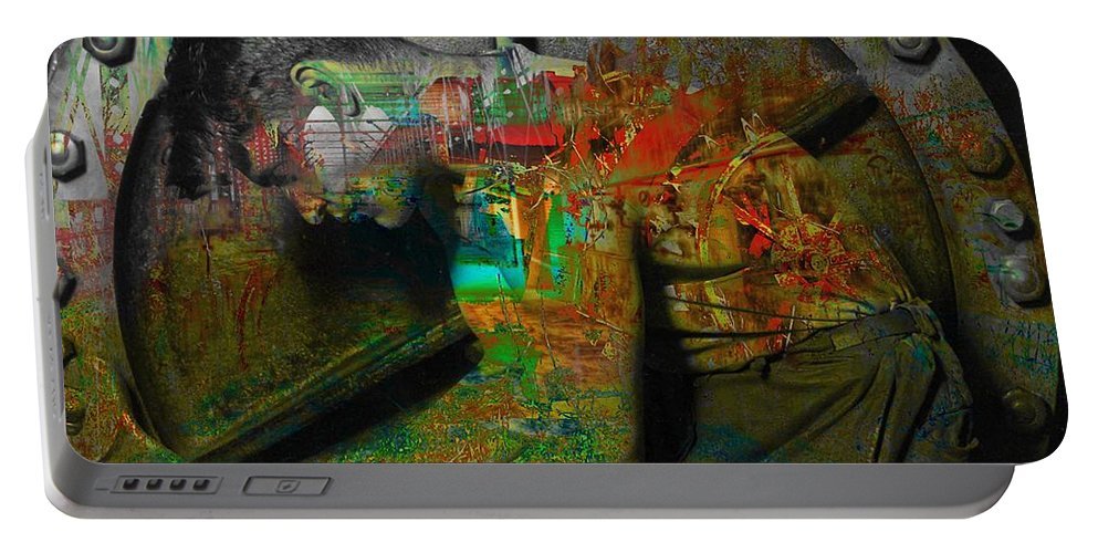 Digital Portable Battery Charger featuring the digital art In A Day by Mary Clanahan