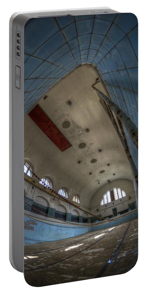 Abandoned Portable Battery Charger featuring the digital art In At The Deep End by Nathan Wright