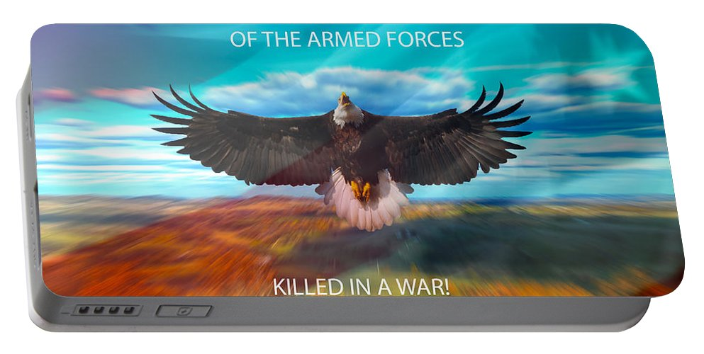Memory Portable Battery Charger featuring the photograph In Memoryof Armed Forces by Randall Branham