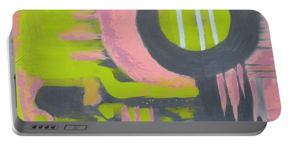 Modern Portable Battery Charger featuring the painting In My Sights by Donna Blackhall