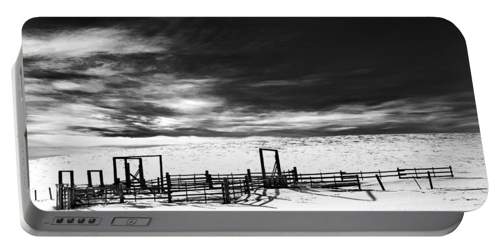 Corral Portable Battery Charger featuring the photograph In The Bleak Midwinter by Theresa Tahara