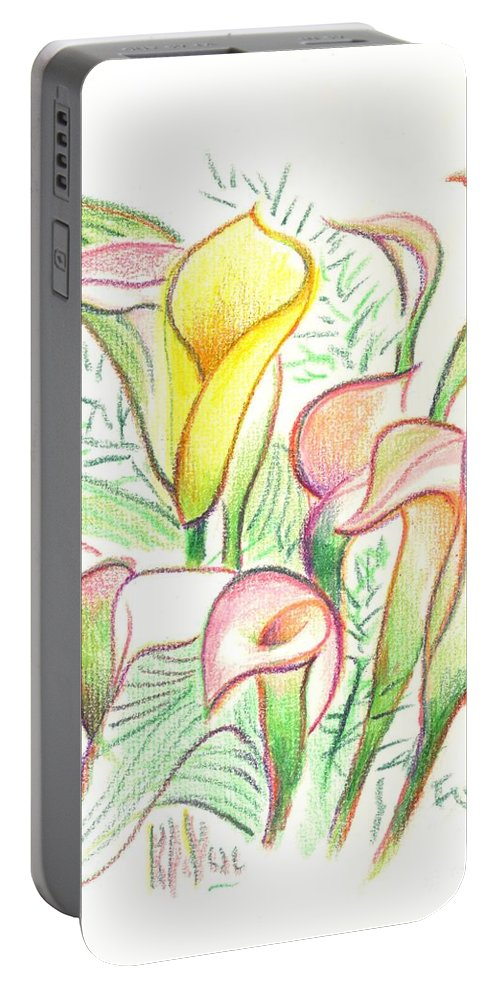 In The Golden Afternoon Portable Battery Charger featuring the painting In The Golden Afternoon by Kip DeVore