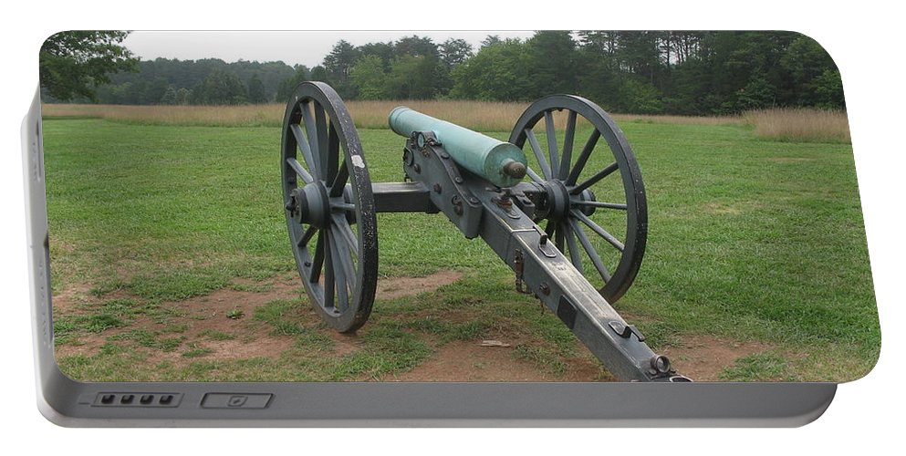 Cannon Portable Battery Charger featuring the photograph In The Line Of Fire - Manassas Battlefield by Christiane Schulze Art And Photography