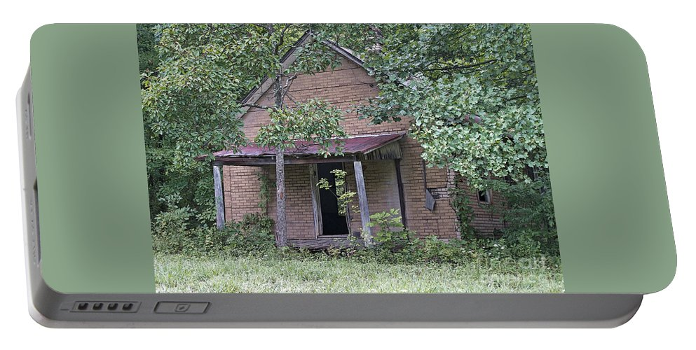 Abandoned Portable Battery Charger featuring the photograph In The Middle Of Nowhere by Ann Horn