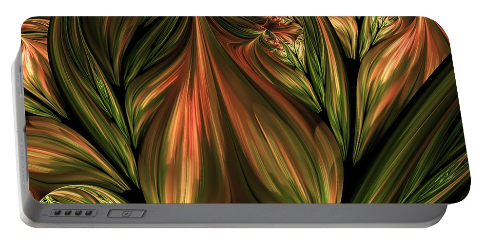 Abstract Portable Battery Charger featuring the digital art In The Midst Of Nature Abstract by Georgiana Romanovna